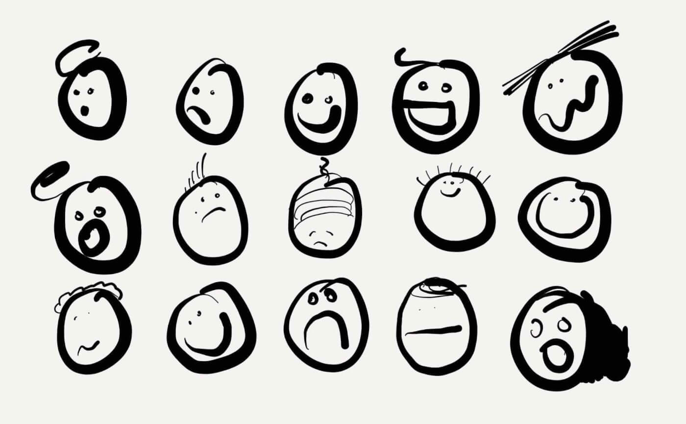 drawn-faces